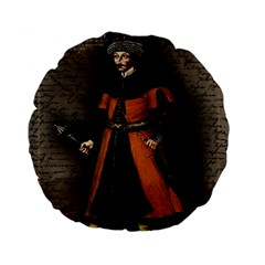 Count Vlad Dracula Standard 15  Premium Flano Round Cushions by Valentinaart