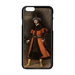 Count Vlad Dracula Apple Iphone 6/6s Black Enamel Case by Valentinaart