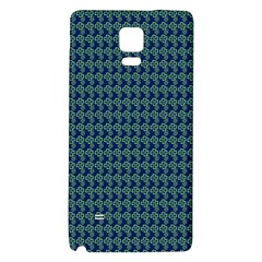 Clovers On Dark Blue Galaxy Note 4 Back Case by PhotoNOLA