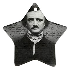 Edgar Allan Poe  Star Ornament (two Sides) by Valentinaart