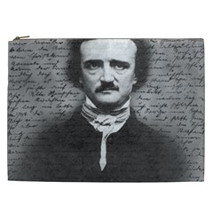 Edgar Allan Poe  Cosmetic Bag (xxl)  by Valentinaart