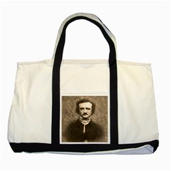 Edgar Allan Poe  Two Tone Tote Bag by Valentinaart