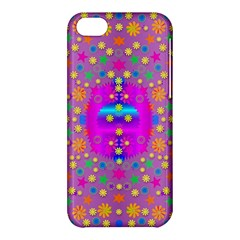 Colors And Wonderful Flowers On A Meadow Apple Iphone 5c Hardshell Case by pepitasart