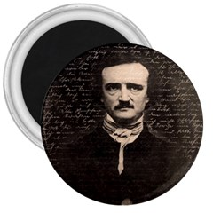 Edgar Allan Poe  3  Magnets by Valentinaart