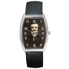 Edgar Allan Poe  Barrel Style Metal Watch by Valentinaart