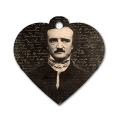 Edgar Allan Poe  Dog Tag Heart (one Side) by Valentinaart