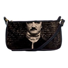 Edgar Allan Poe  Shoulder Clutch Bags by Valentinaart