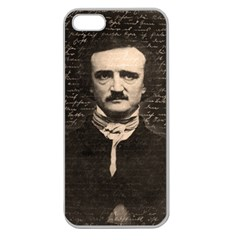 Edgar Allan Poe  Apple Seamless Iphone 5 Case (clear) by Valentinaart