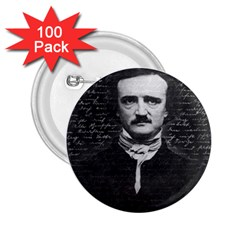 Edgar Allan Poe  2 25  Buttons (100 Pack)  by Valentinaart
