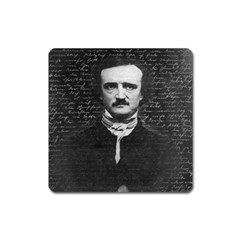 Edgar Allan Poe  Square Magnet by Valentinaart