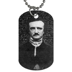 Edgar Allan Poe  Dog Tag (one Side) by Valentinaart