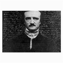 Edgar Allan Poe  Large Glasses Cloth (2 Side) by Valentinaart