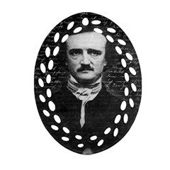 Edgar Allan Poe  Ornament (oval Filigree) by Valentinaart