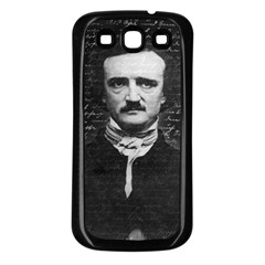 Edgar Allan Poe  Samsung Galaxy S3 Back Case (black) by Valentinaart