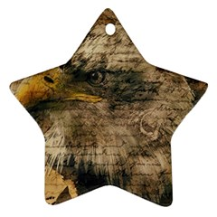 Vintage Eagle  Ornament (star) by Valentinaart