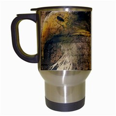 Vintage Eagle  Travel Mugs (white) by Valentinaart