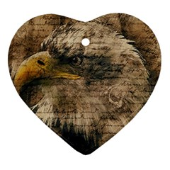 Vintage Eagle  Heart Ornament (two Sides) by Valentinaart