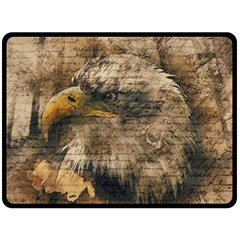 Vintage Eagle  Fleece Blanket (large)  by Valentinaart