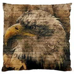 Vintage Eagle  Large Flano Cushion Case (one Side) by Valentinaart