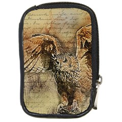 Vintage Owl Compact Camera Cases by Valentinaart