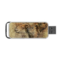 Vintage Owl Portable Usb Flash (one Side) by Valentinaart
