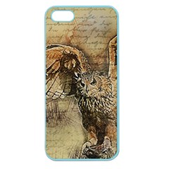 Vintage Owl Apple Seamless Iphone 5 Case (color) by Valentinaart