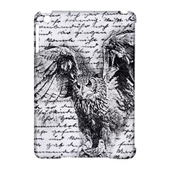 Vintage Owl Apple Ipad Mini Hardshell Case (compatible With Smart Cover) by Valentinaart