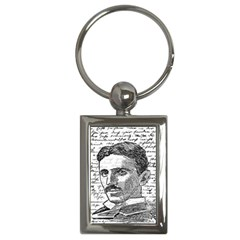 Nikola Tesla Key Chains (rectangle)  by Valentinaart