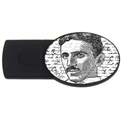 Nikola Tesla Usb Flash Drive Oval (4 Gb) by Valentinaart