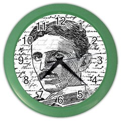 Nikola Tesla Color Wall Clocks by Valentinaart