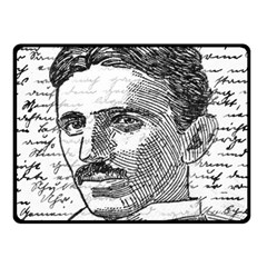 Nikola Tesla Fleece Blanket (small) by Valentinaart