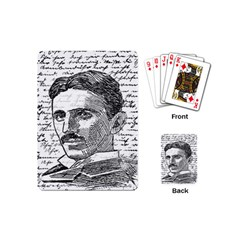 Nikola Tesla Playing Cards (mini)  by Valentinaart