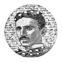 Nikola Tesla Round Filigree Ornament (two Sides) by Valentinaart
