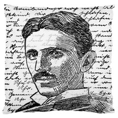 Nikola Tesla Large Cushion Case (two Sides) by Valentinaart