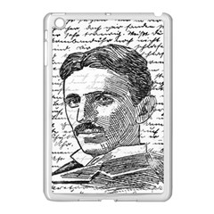 Nikola Tesla Apple Ipad Mini Case (white) by Valentinaart