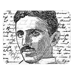 Nikola Tesla Double Sided Flano Blanket (large)  by Valentinaart