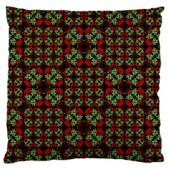 Asian Ornate Patchwork Pattern Large Flano Cushion Case (one Side) by dflcprints