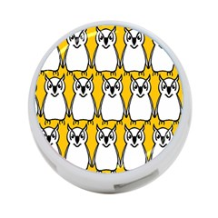 Yellow Owl Background 4 Port Usb Hub (two Sides)