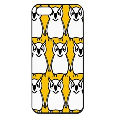 Yellow Owl Background Apple Iphone 5 Seamless Case (black) by Simbadda