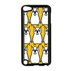 Yellow Owl Background Apple Ipod Touch 5 Case (black) by Simbadda