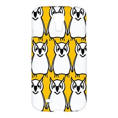 Yellow Owl Background Samsung Galaxy S4 I9500/i9505 Hardshell Case
