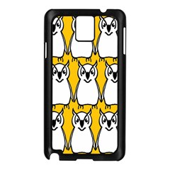 Yellow Owl Background Samsung Galaxy Note 3 N9005 Case (black) by Simbadda