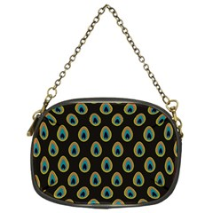 Peacock Inspired Background Chain Purses (one Side)