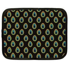 Peacock Inspired Background Netbook Case (xl)  by Simbadda