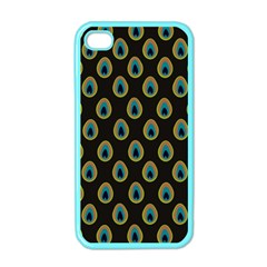 Peacock Inspired Background Apple Iphone 4 Case (color) by Simbadda