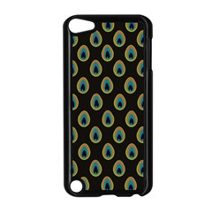 Peacock Inspired Background Apple Ipod Touch 5 Case (black) by Simbadda