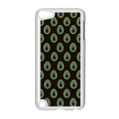 Peacock Inspired Background Apple Ipod Touch 5 Case (white) by Simbadda
