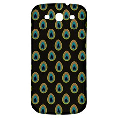 Peacock Inspired Background Samsung Galaxy S3 S Iii Classic Hardshell Back Case by Simbadda