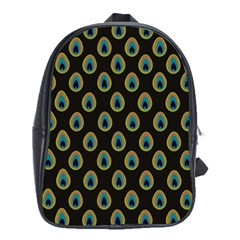 Peacock Inspired Background School Bags (xl)  by Simbadda
