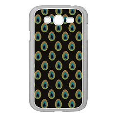 Peacock Inspired Background Samsung Galaxy Grand Duos I9082 Case (white) by Simbadda